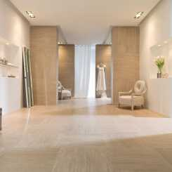 Porcelanosa Travertino в интерьере