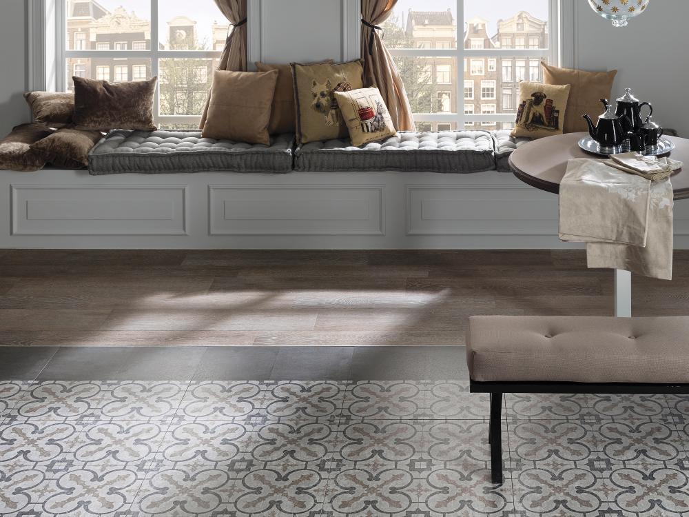 Керамическая плитка в стиле кантри для ванной