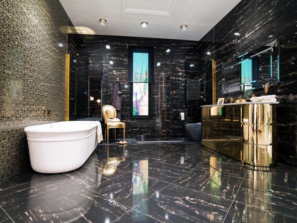 Porcelanosa portblack for Fliesen badezimmer schwarz
